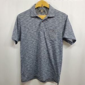 Eddie Bauer Heather Gray Polo Shirt Small